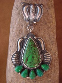 Jewelry Sterling Silver Green Gaspeite Pendant by Kirk Smith