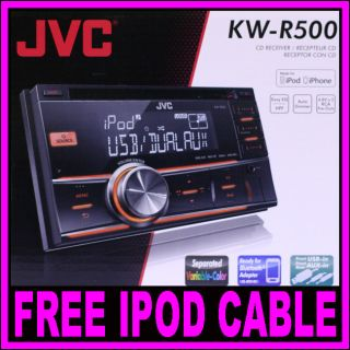 JVC KW R500 Double DIN  IPOD IPHONE USB CD Tuner Player Car