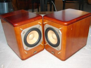 JVC SP UX7000 Cherry Wood Compact Bookshelf Speakers RARE