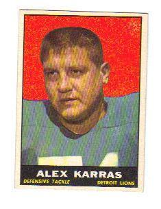 1961 Alex Karras Topps Card 35