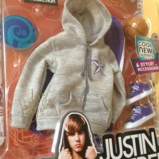 Justin Bieber Doll Outfit Accessories Gray Hoodie With Shorts