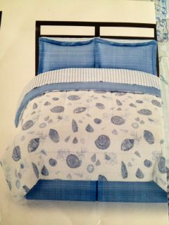 Shell Seashell Comforter Set Complete Bed in A Bag Queen King