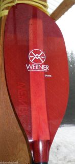 WERNER Shuna 2 pc 215 cm std diameter shaft Sea Kayak Paddle excellent