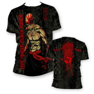Five Finger Death Punch Ninja All Over Adult Tee Shirt