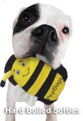 Kyjen Hard Boiled Softies Large Dog Plush Rubber Toy