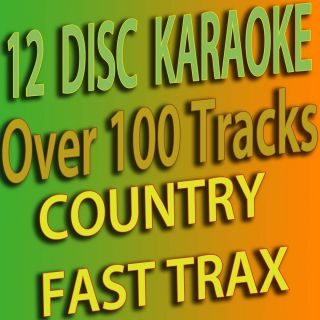 COUNTRY KARAOKE CDG 12 FAST TRAX DISC SET FROM 400 TO 412 NEW RELEASE