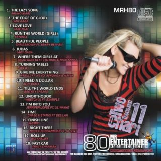 Mr Entertainer MRH80 Chart Karaoke Hits 2011 CDG Disc