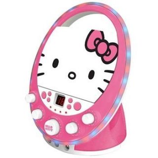 Hello Kitty Kids Disco Party Lighting CD G Karaoke System w 2