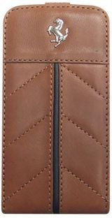 California Series Flip Case Cover Iphone 4 4S Genuine Leather kamel