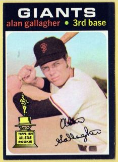 1971 Topps Baseball 224 Alan Gallagher Giants EX MT