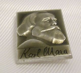 Karl Marx German Communist Soviet Russian Propaganda Pin Badge USSR
