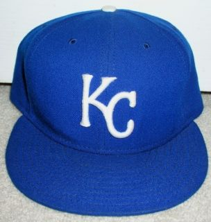 KANSAS CITY ROYALS NEW ERA FITTED HAT 7 5 8 AUTHENTIC OFFICIAL ON
