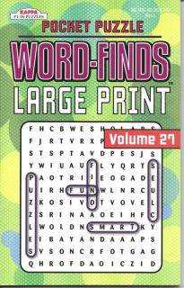Kappa Pocket Puzzle Large Print Wordsearch Word Finds Puzzle Book