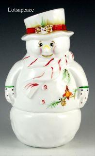 SNOWMAN Fairy Light Lamp KARL Frosty Friends w Bird Christmas 2011 NIB