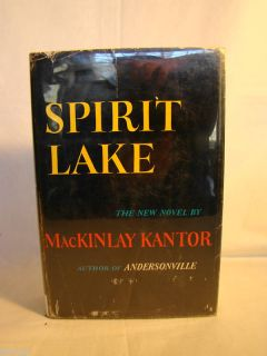 McKinley Kantor Spirit Lake Signed First Ed DJ 1961