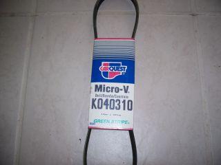 Gates K040310 Micro V Serpentine Belt
