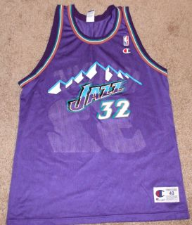 Karl Malone Vintage 90s Purple Mountains Utah Jazz Champion Jersey Sz