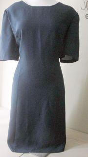 Kathryn Deene Woman Size 28W Navy Blue Scoop Neck Straight Dress Nice
