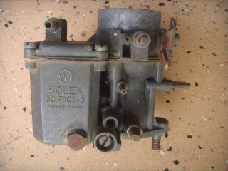 30 Pict 3 Carburetor Beetle Karmann Ghia Clean Rebuild or Parts