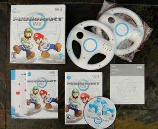 Mario Kart Wii Game with 2 Wii Wheels Bundle