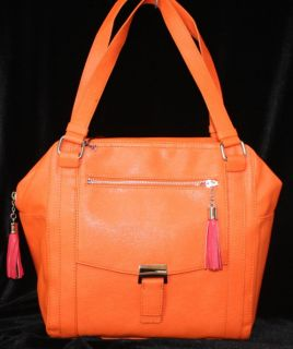 Kate Landry New Tote Retail $89 MJT270S12 Bright Orange