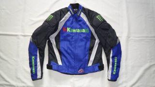 HJ003 KAWASAKI MOTORCYCLE JACKET BIKERS RACING JACKET W PADS M L XL