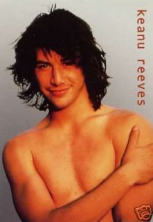 Young Keanu Reeves Movie Actor Matrix Postcard