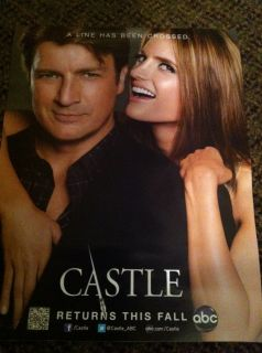 2012 Comic Con Castle Promo Poster Nathan Fillion Stana Katic