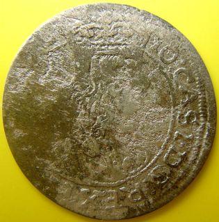 Poland Silver Coin Jan II Kazimir 6 Gross 1663