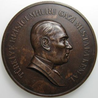Turkey 1931 Mustafa Kemal Istanbul Second Balkan Congress Medal RRR