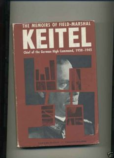 WWII Book Memoirs of Field Marshal Keitel German Army