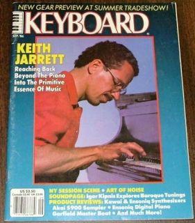 KEYBOARD Magazine Sep 1986 Keith Jarrett Igor Kipnis Soundpg Yamaha
