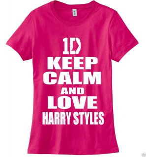 Keep Calm and Love Harry Styles Tshirt One Direction Woman Tshirt