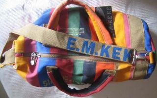 Keke Multicolour Canvas Multi Purpose Bag