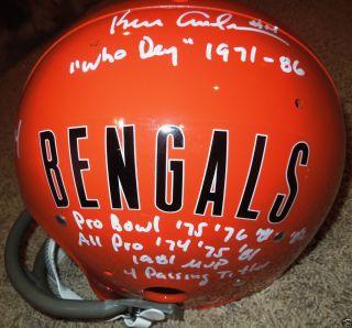 Ken Anderson signed Cincinnati Bengals helmet full size throwback