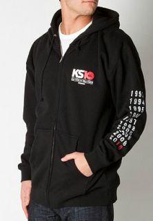 New Mens Quiksilver Kelly Slater KS10 Black Full Zip Hoodie Sweatshirt