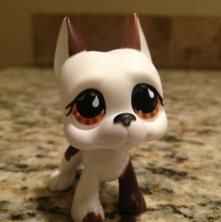 Littlest Pet Shop LPS 750 RARE Brown White Great Dane Dog