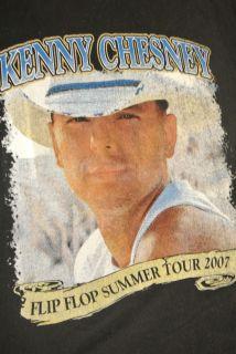 Kenny Chesney Flip Flop Summer Tour 2007 T Shirt Size Large