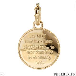DYRBERG Kern Brand New Unisex Gold Plated Pendant $90