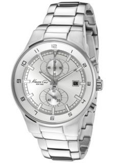 Kenneth Cole Watch KC3499 Mens Chronograph Silver Dial Stainless Steel