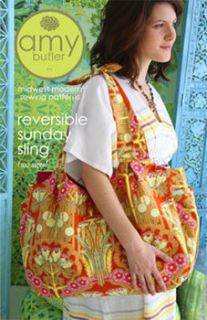 Sewing Pattern Amy Butler Reversible Sunday Sling Purse Pattern Sewing