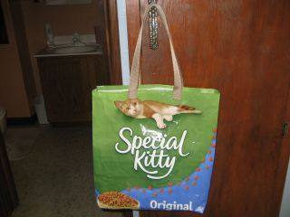 Reusable Recyle Eco Friendly Shopping Tote Bag Recycled Cat Food Bag