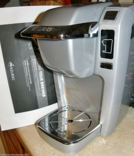 Keurig B31 Mini Plus Coffee Maker Platinum Floor Model No Box