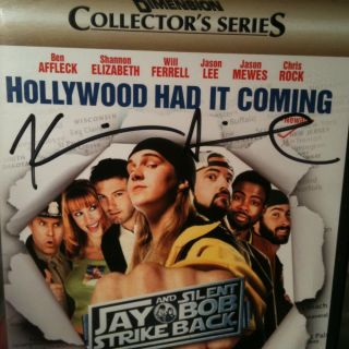 KEVIN SMITH SIGNED Jay Silent Bob Strike Back 2 Disc DVD Set comic