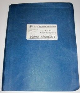 Vicon Variable Keypads Installation Operation Manuals