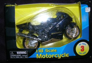 Toy Kid Connection 1 18 Kawasaki Ninja ZX 12R blue black Motorcycle