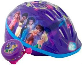 Fairies Tinker Bell Lighted Kids Bike Helmet with Bonus Bell Included