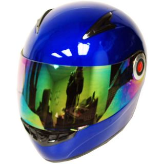 New Youth Kids Motorcycle MX ATV Dirt Bike Full Face Helmet Blue Size