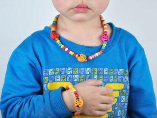 Set Kids Childrens Day Gift Beads Bracelet Necklace Kits Jewelry Set