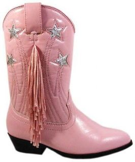 Kids Pink Fringed Cowgirl Boots Sizes 9 3